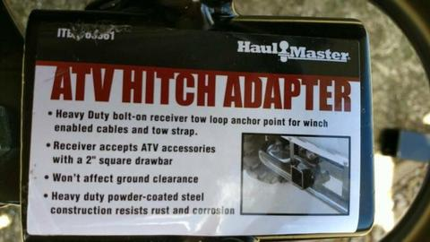 ATV hitch adpater as new