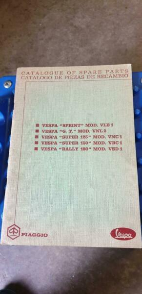 Vespa Piaggio Spare Parts Catalogues