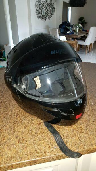 Nolan N-102 Gloss Black Helmet with basic kit
