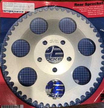 Sprocket, Chain, Rear,Alum, 53 tooth, Alum, Zippers 808-887. free post