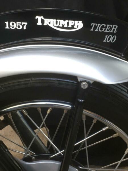 1957 TRIUMPH TIGER MOTORCYCLE