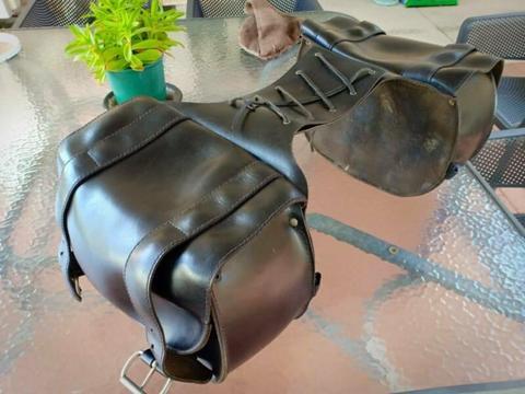 Motorcycle leather Saddlebags KazzMazz Brand WA made