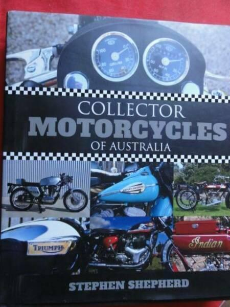 COLLECTOR MOTORCYCLES OF AUSTRALIA BOOK ABOUT,, c2013