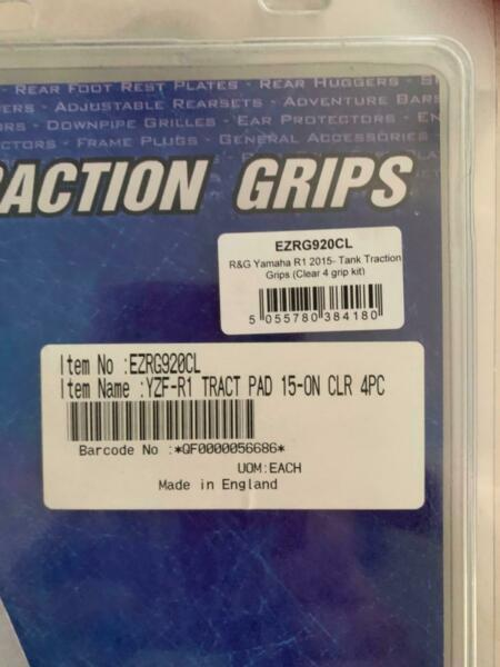 r&g tank traction grips clear set of 4 yamaha r1 2015