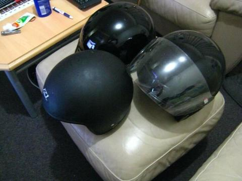 ...........3 motor bjke helmets