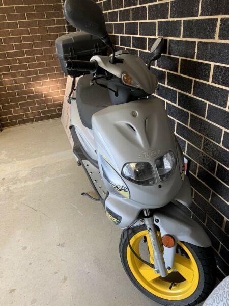 TGB Petrol scooter with helmet box