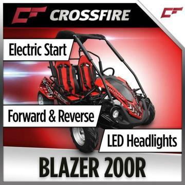 Crossfire, Go-Kart, Blazer 200R, 200cc, 2 Seater