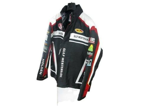 Gulf Western Oil Holden Black Motorcycle Jacket