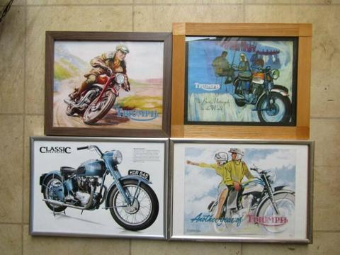 Triumph Motorcycle Framed Prints