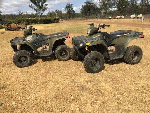 Polaris quads and Yamaha 2 wheeler