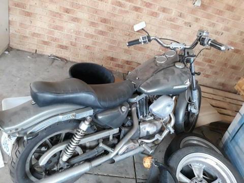 Old school Harley Davidson. Last of the Ironheads