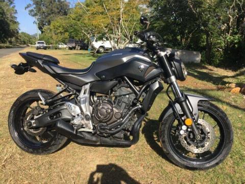 Yamaha MT07 (LAMS) motorbike