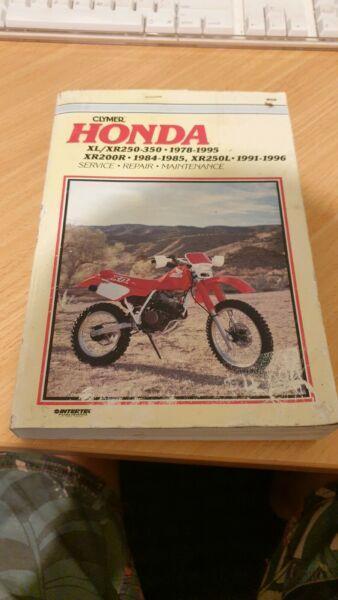 Honda XL/XR 250-350 service manual