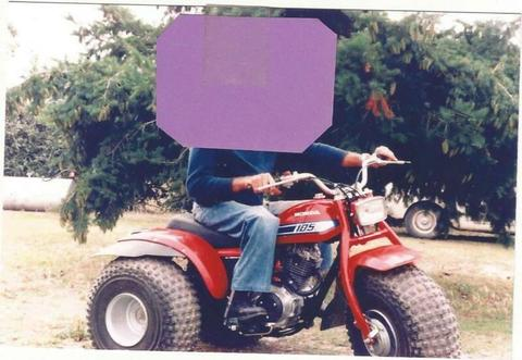 3 wheel baloon tyre retro 1980's 185's ATV motorbike