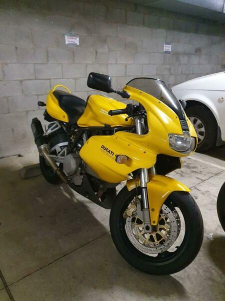 Ducati 620 with low kms and long registration