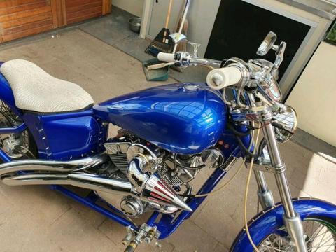 Custom 250cc chopper harley sounding learner bike