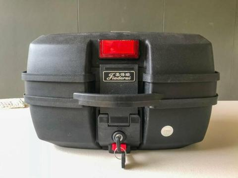 Lockable Top Box for motorcycle or scooter