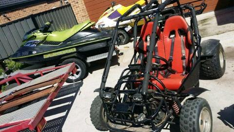 250cc twin seater buggy and trailer