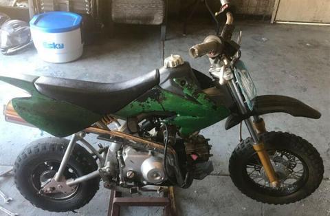 thumpster 2013 50cc dirt bike