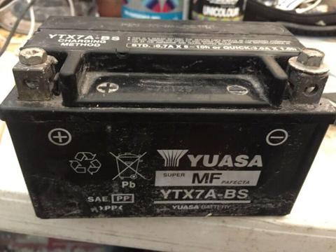 Motor bike battery as new