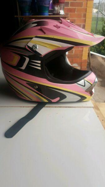 I have for sale one kids lei moto helmet