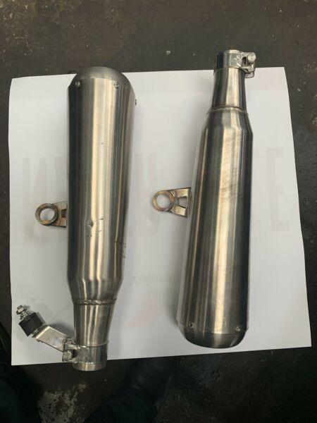 Triumph street twin / street cup TEC shorti exhausts
