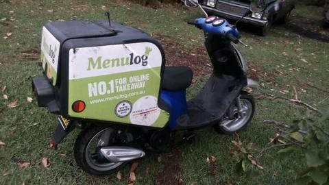 TGB scooter,pizza Menulog delivery
