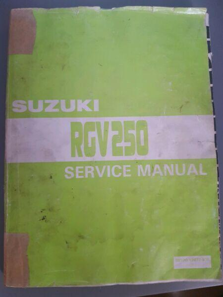 Suzuki RGV250 service manual