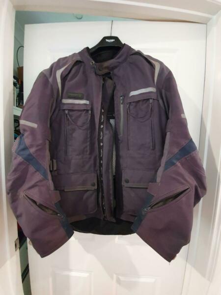 Triumph Adventure Jacket (large) & Pants (36, brand new) goretex type