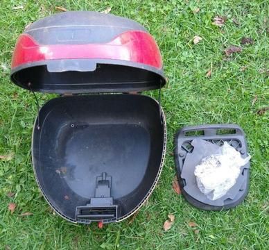 Motorcycle / Scooter Lockable Helmet Box / Storage Case